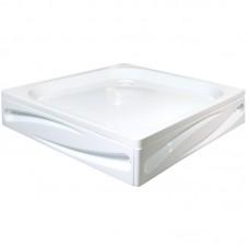 Душевой поддон Freya  100*100 глубина 6 см.с фронтальной панелью, и ножками, цвет белый