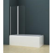 Душевая шторка на ванну AZ-141 80*140 хром, 4мм прозрачное стекло