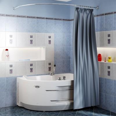 Карниз д/шторы на ванну Ирма 169х110