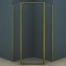 Душевое ограждение AZ-112P 100*100*200 шкуренная бронза, 5мм прозрачное стекло