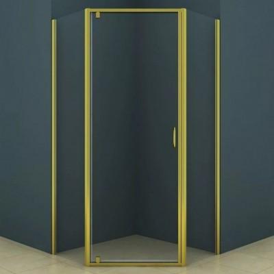 Душевое ограждение AZ-112P 90*90*200 золото 5мм прозрачное стекло