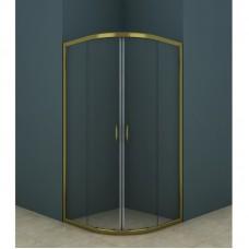 Душевое ограждение AZ-121 S 90*90*200 золото, 5мм прозрачное стекло