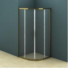 Душевое ограждение AZ-121 S A 90*90*195 шкуренная бронза, 6мм прозрачное стекло