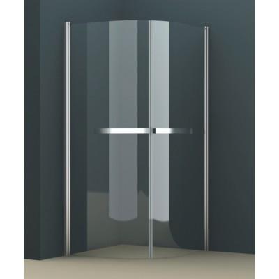 Душевое ограждение AZ-125Р 100*100*200 хром, 8мм прозрачное стекло