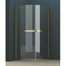 Душевое ограждение AZ-125Р 90*90*200 бронза, 8мм прозрачное стекло