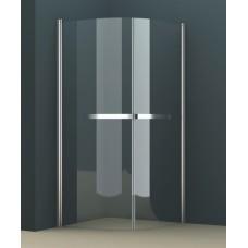 Душевое ограждение AZ-125Р 90*90*200 хром, 8мм прозрачное стекло