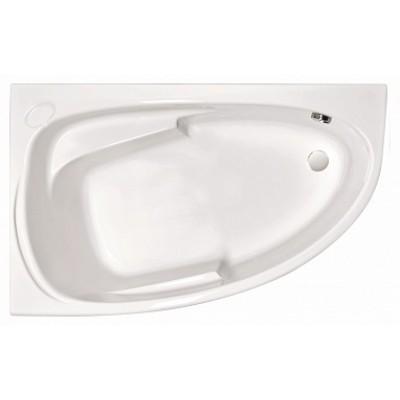 Акриловая асимметричная ванна JOANNA 140x90 левая без ножек