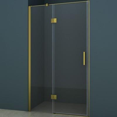 Душевое ограждение AZ-102H 140*200 шкуренная бронза, 8мм прозрачное стекло