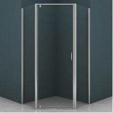 Душевое ограждение AZ-112P 100*100*200 хром, 5мм прозрачное стекло