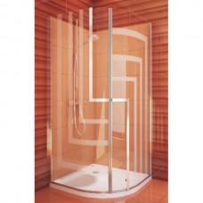 Душевая кабина TR1/900 Silver/Transparent полукруглая