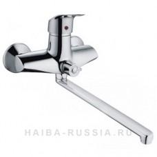 HB2305  смеситель для ванны короткий излив переключатель в корпусе  (хром)