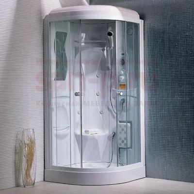 Душевая кабина TS-33W 95*95*220*15 прозр,бел.пр.низ.