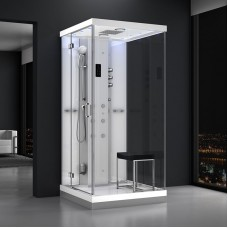 Душевая кабина AZ-H100L прозрачный/белый 100*100*218