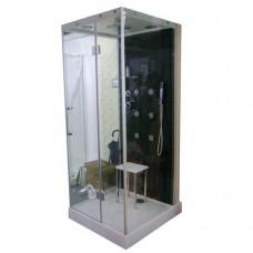Душевая кабина AG8217 R 100*90*220 чёрная задняя стенка